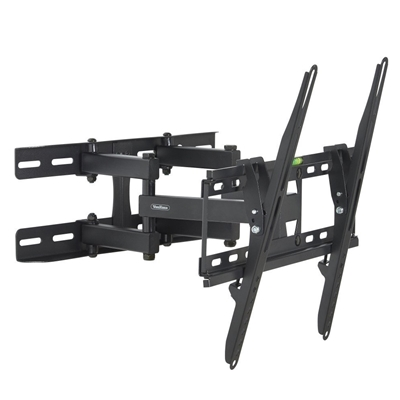 "VonHaus 23"" to 56"" Double Arm Tilt & Swivel TV Bracket"