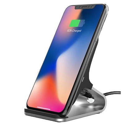 Universal Fast Charging QI Wireless Charging Stand Black