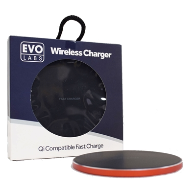 Universal Fast Charging QI Wireless Charging Pad Red.