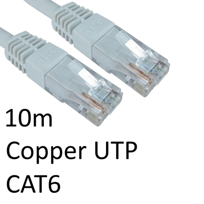 RJ45 (M) to RJ45 (M) CAT6 10m White OEM Moulded Boot Copper UTP Network Cable
