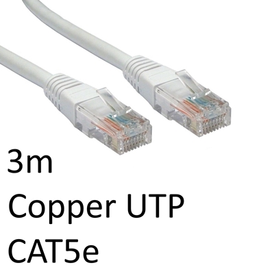 RJ45 (M) to RJ45 (M) CAT5e 3m White OEM Moulded Boot Copper UTP Network Cable