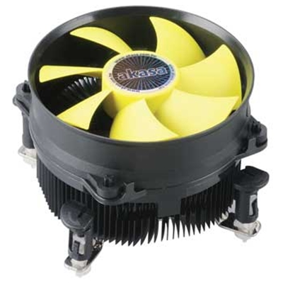 Akasa K32 Intel Socket 92mm PWM 3000RPM Yellow Fan CPU Cooler