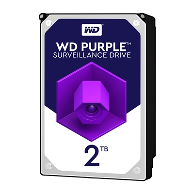 "WD Purple WD20PURZ 2TB 3.5"" 5400RPM 64MB Cache SATA III Surveillance Internal Hard Drive"