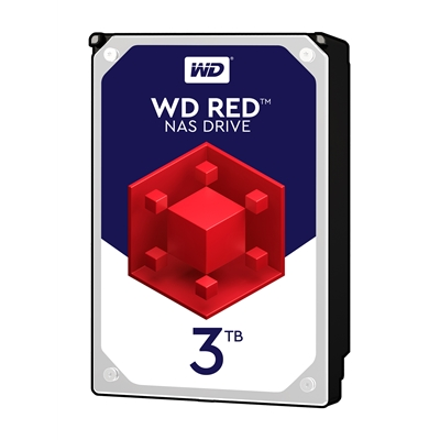 """WD Red WD30EFRX NAS 3TB 3.5"""" 5400RPM 64MB Cache Sata III Internal Hard Drive"""