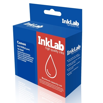InkLab CLI526 Canon Compatible Cyan Replacement Ink