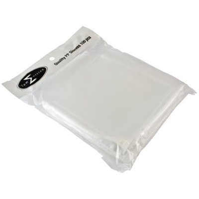 Clear Disk Sleeves 100 pack 120 Micron