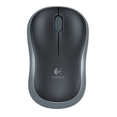 Logitech M185 Wireless Black & Grey Mouse