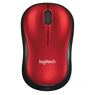 Logitech M185 Wireless Black & Red Mouse