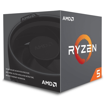 AMD Ryzen 5 2600 3.6 GHz Six Core AM4 Socket Overclockable Processor