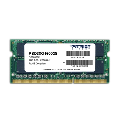 Patriot Signature Line 8GB No Heatsink (1 x 8GB) DDR3 1600MHz SODIMM System Memory
