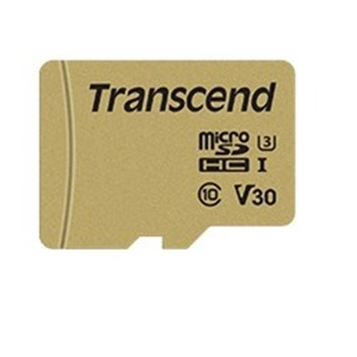 Transcend 64GB Micro SDXC Class 10 UHS-I U3 Flash Card with Adapter