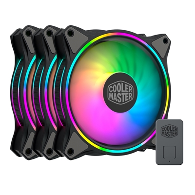 Cooler Master MasterFan MF120 Halo Addressable RGB 3 Fan Pack with ARGB Controller