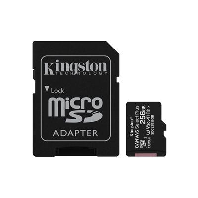 Kingston Canvas Select Plus 256GB Micro SD UHS-I Flash Card