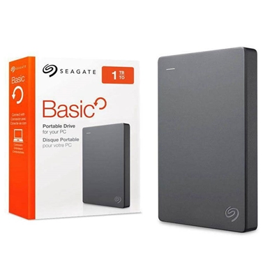"Seagate Basic 1TB USB 3.0 Black 2.5"" Portable External Hard Drive"