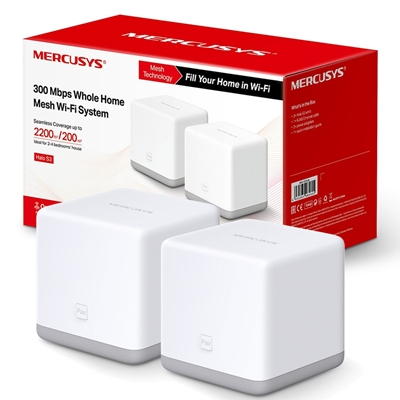 Mercusys Halo S3 (2 Pack) Wireless N300 Whole Home Mesh Wi-Fi System