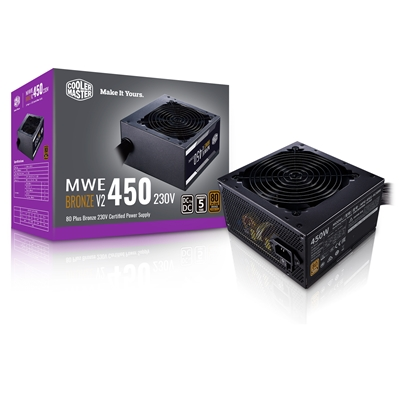 Cooler Master MWE Bronze V2 450W 230V 120mm HDB Fan 80 PLUS Bronze PSU