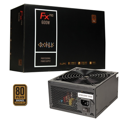 Cronus FX PRO 600W 140mm Silent Fan 80 PLUS Bronze PSU