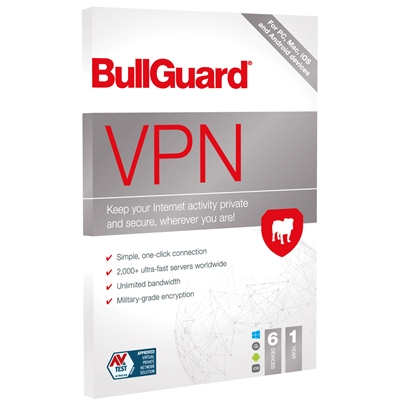 BullGuard VPN 2021 1 Year 6 Device 5 Licence Multipack