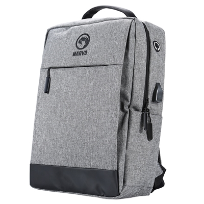 Marvo Grey Laptop Backpack with external USB Port