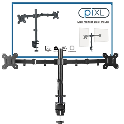 piXL Double Monitor Arm Desk Mount
