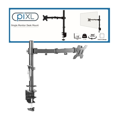 piXL Single Monitor Arm Desk Mount