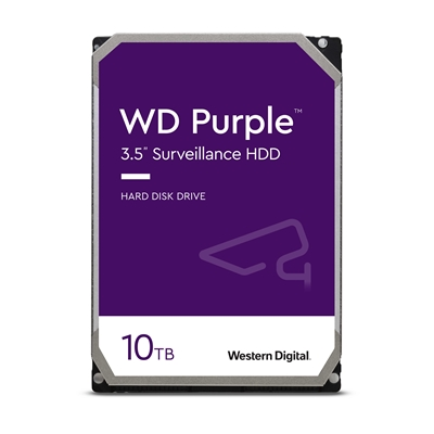 "WD Purple WD102PURZ 10TB 3.5"" 7200RPM 256MB Cache SATA III Surveillance Internal Hard Drive"