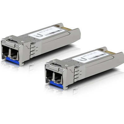 Ubiquiti UF-SM-10G SFP+ 10KM Single Mode Fiber Optic Module (2 Pack)