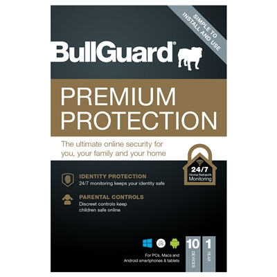 Bullguard Premium Protection 2021 1 Year/10 Device Single Multi Device Retail Licence English