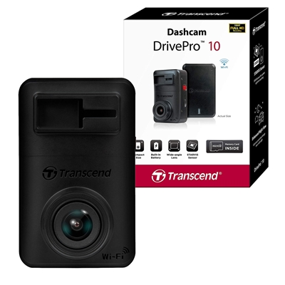Transcend DrivePro 10 Full HD 1080P Dashcam With Built-in Wi-Fi