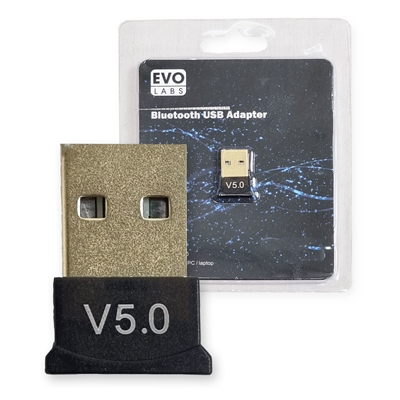 Evo Labs Bluetooth 5.0 USB Adapter for PC or Laptop